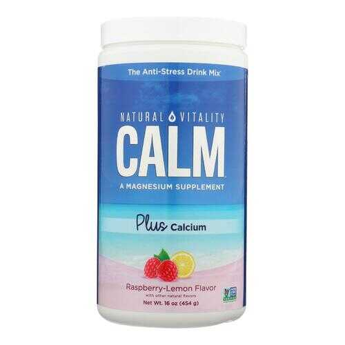 Natural Vitality Natural Calm Plus Calcium Raspberry-Lemon - 16 oz