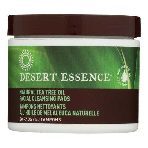 Desert Essence - Natural Tea Tree Oil Facial Cleansing Pads - Original - 50 Pads