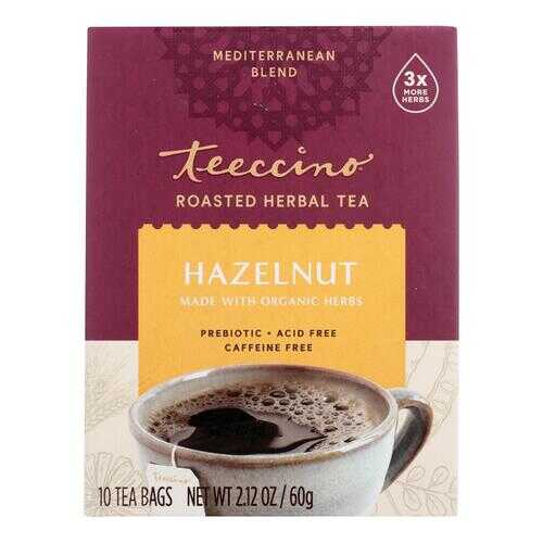 Teeccino Herbal Coffee Hazelnut - 10 Tea Bags - Case of 6