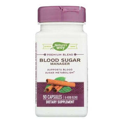 Nature's Way - Blood Sugar Metabolism Blend - with Cinnamon and Gymnema - 90 Veg Capsules