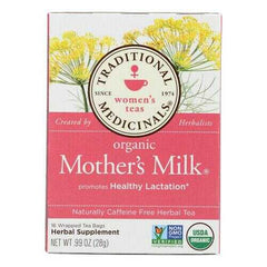 Traditional Medicinals Organic Mother's Milk Herbal Tea - 16 Tea Bags - Case of 6