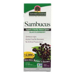 Nature's Answer - Sambucus nigra Black Elder Berry Extract - 4 fl oz