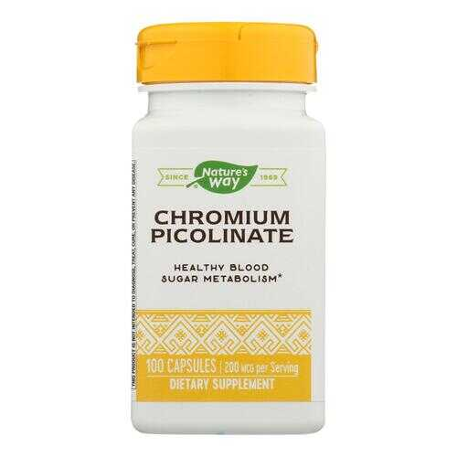 Nature's Way - Chromium Picolinate - 100 Capsules