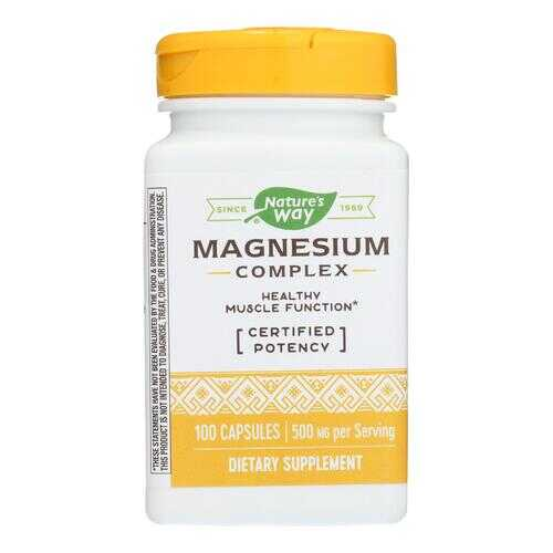 Nature's Way - Magnesium Complex - 100 Capsules