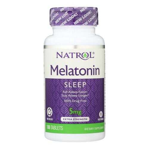 Natrol Melatonin Time Release - 5 mg - 100 Tablets