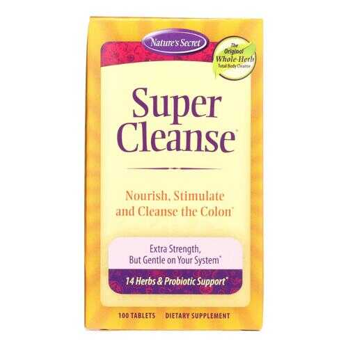 Nature's Secret Super Cleanse - 100 Tablets