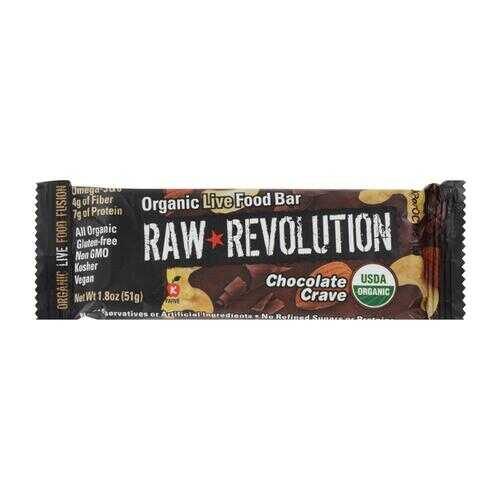 Raw Revolution Bar - Organic Chocolate Crave - Case of 12 - 1.8 oz
