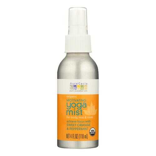 Aura Cacia - Organic Yoga Mist - Motivating Sweet Orange and Peppermint - 4 oz