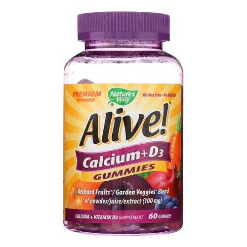 Nature's Way - Alive! Calcium plus D3 Gummies - 60 Gummies