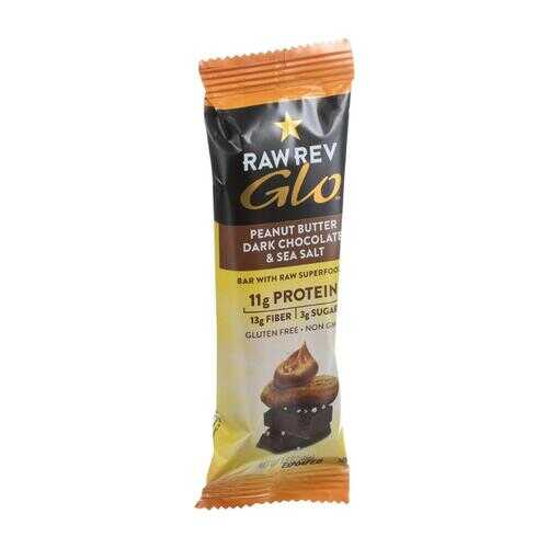 Raw Revolution Glo Bar - Peanut Butter Dark Chocolate and Sea Salt - 1.6 oz - Case of 12