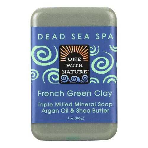 One With Nature French Clay Soap - French Green - Case of 6 - 7 oz.