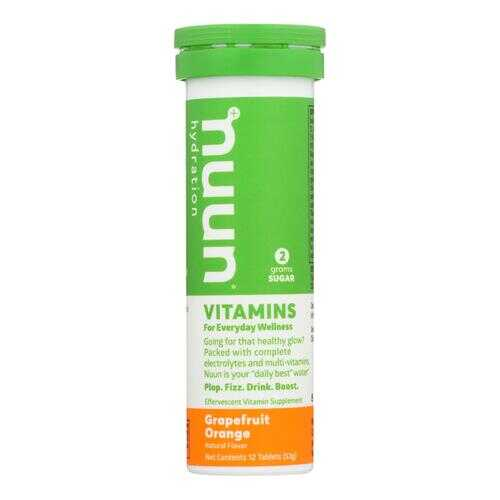 Nuun Vitamins Drink Tab - Grapefruit - Ornge - Case of 8 - 12 TAB