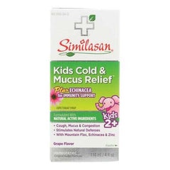 Similasan Kid's Cold Syrup - Mucus Relief - 4 fl oz