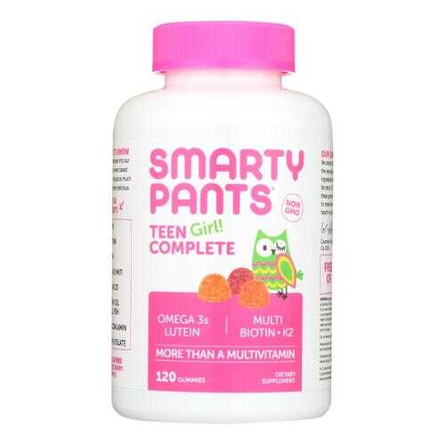 Smartypants Gummy Multivitamin -Teen Girl Complete - 120 count