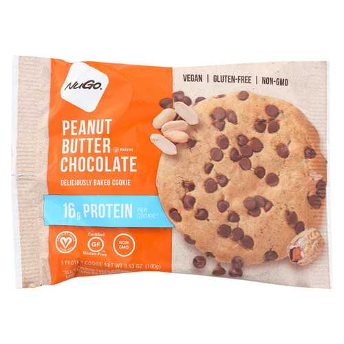 Nugo Nutrition Bar Cookie - Protein - Peanut Butter Chocolate - Case of 12 - 3.53 oz