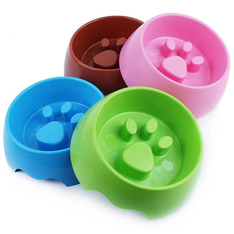 Paw Print Slow Feeder Bowl