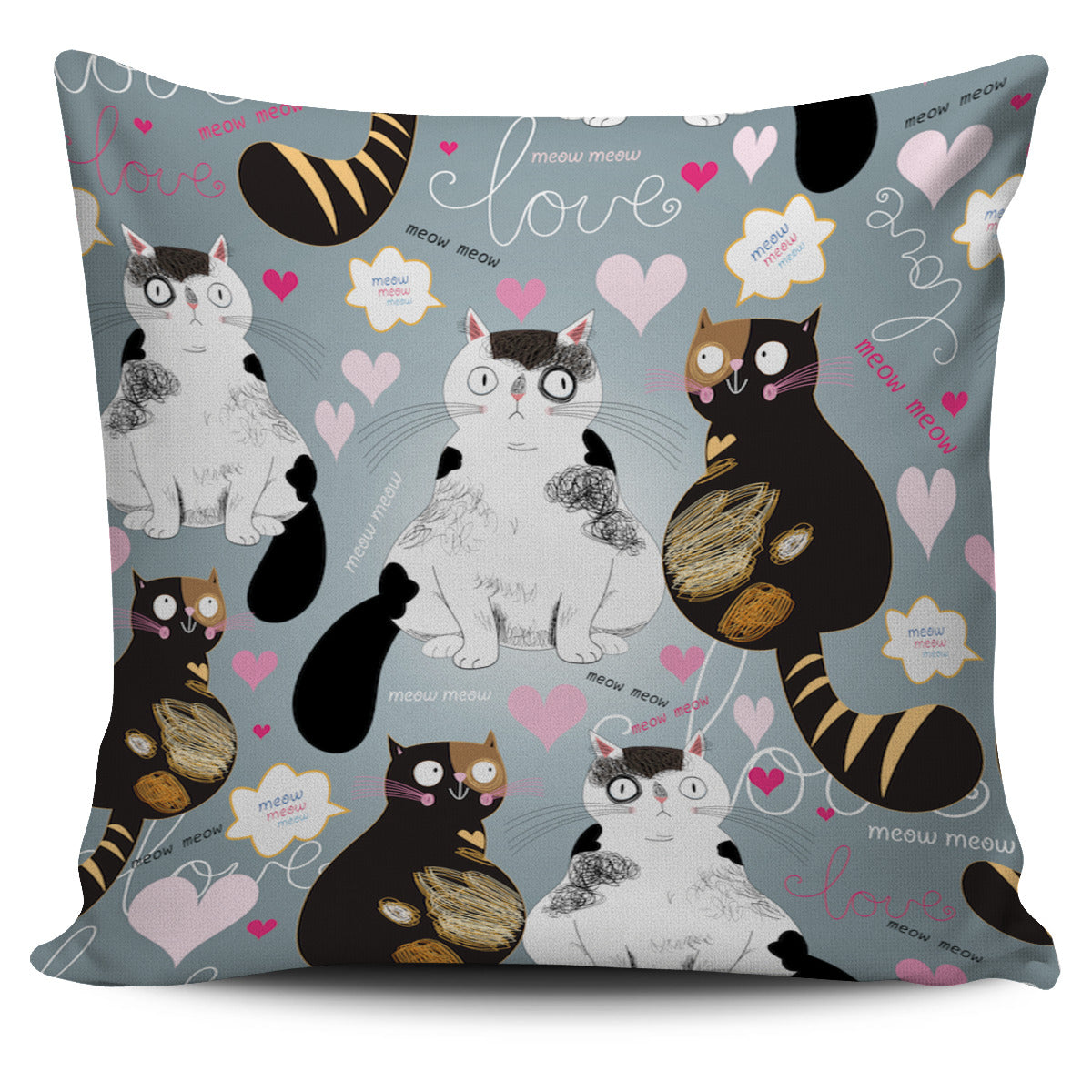 Enamored Cat Pillow Cover