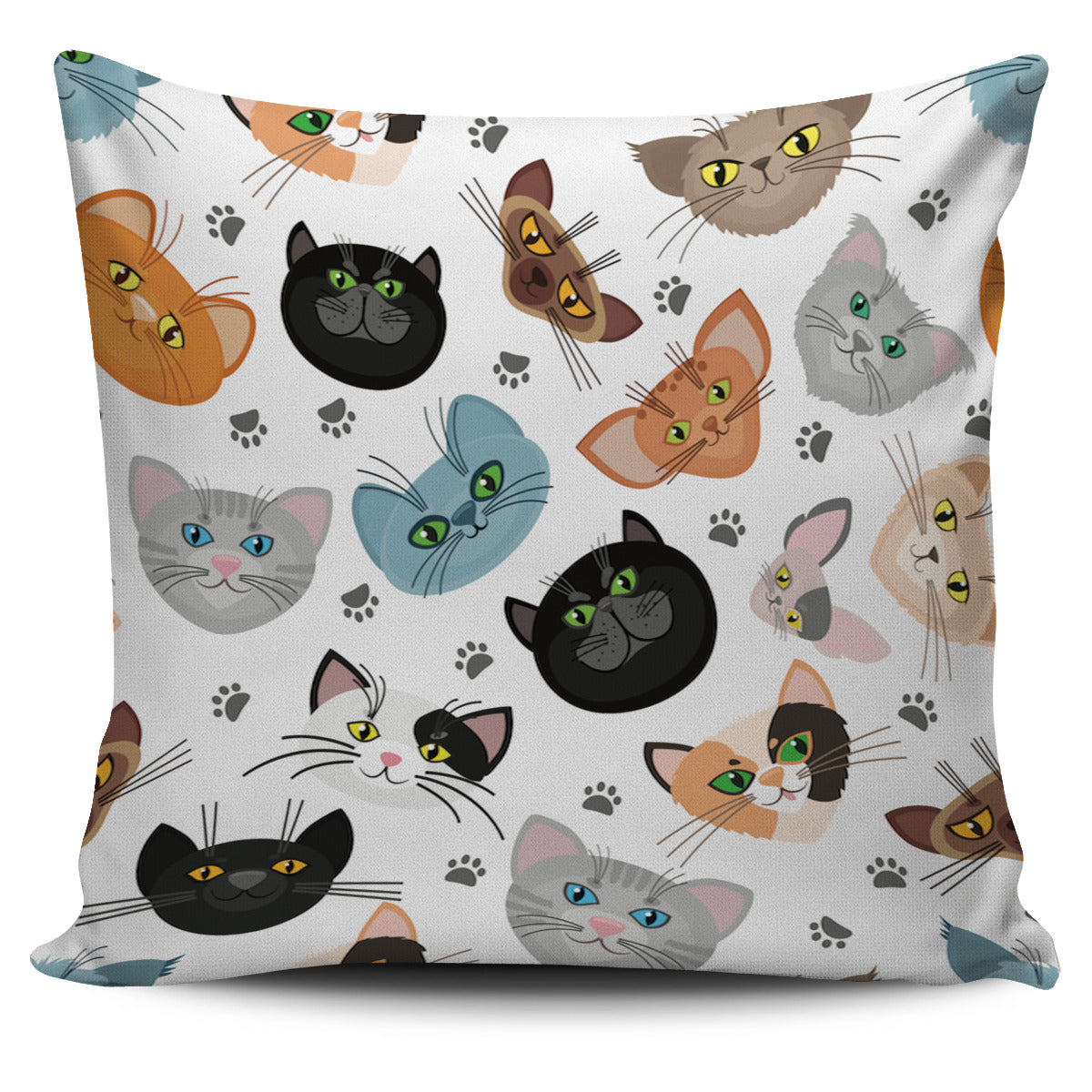 Different Cats Pillow Cover