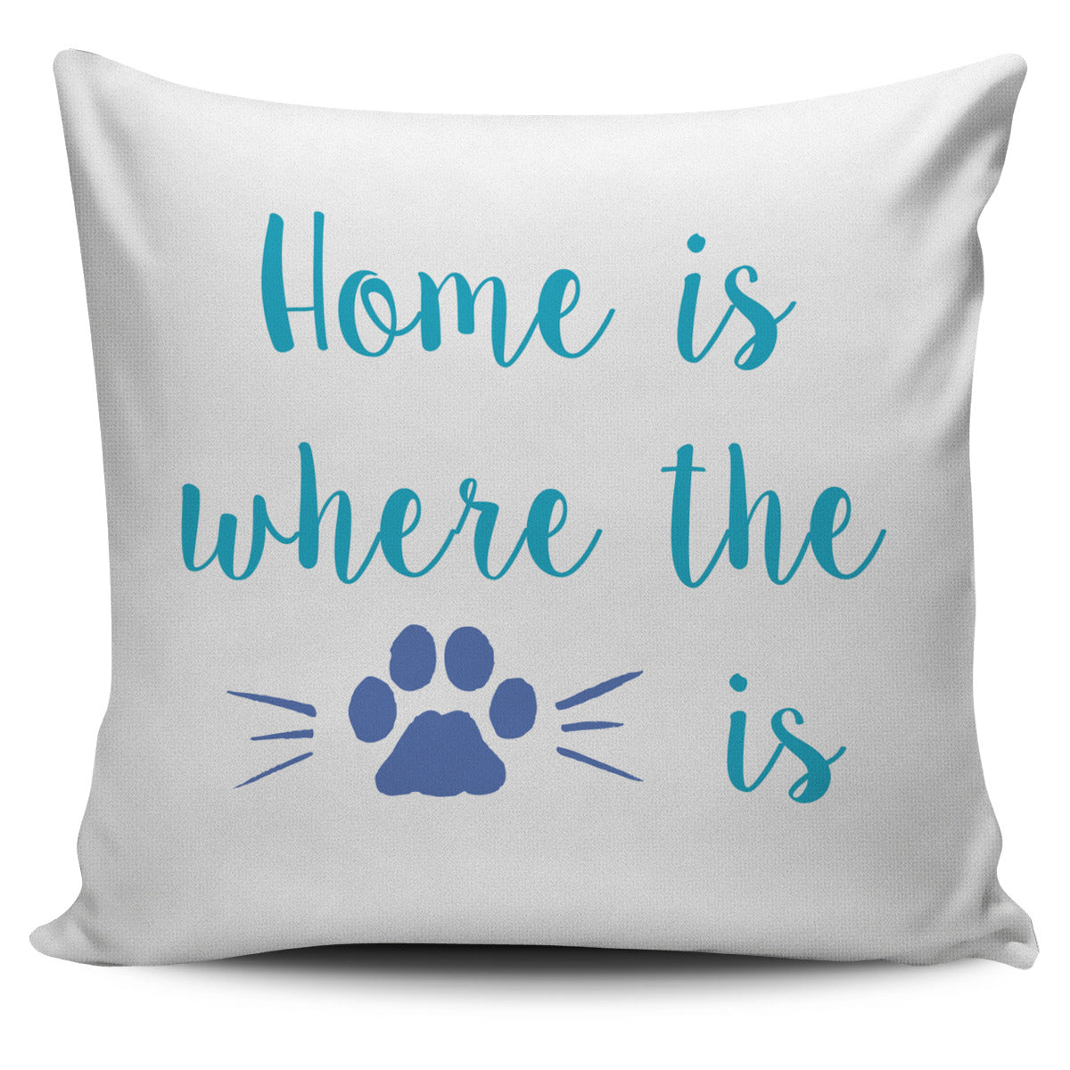 Home is Where the Cat Pillow Cover