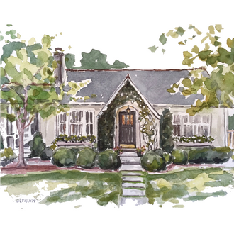 Homes - Custom Watercolor