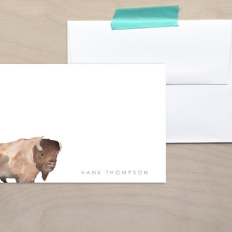 Kids Bison Note Cards