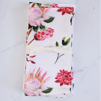 Protea and Bows Napkin - Set of 4