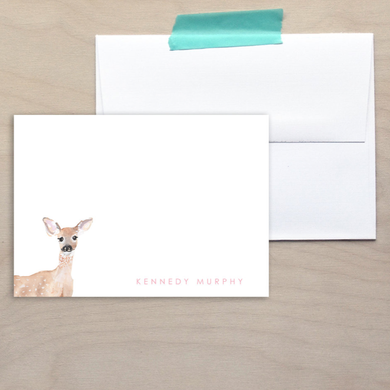 Kids Deer Note Cards
