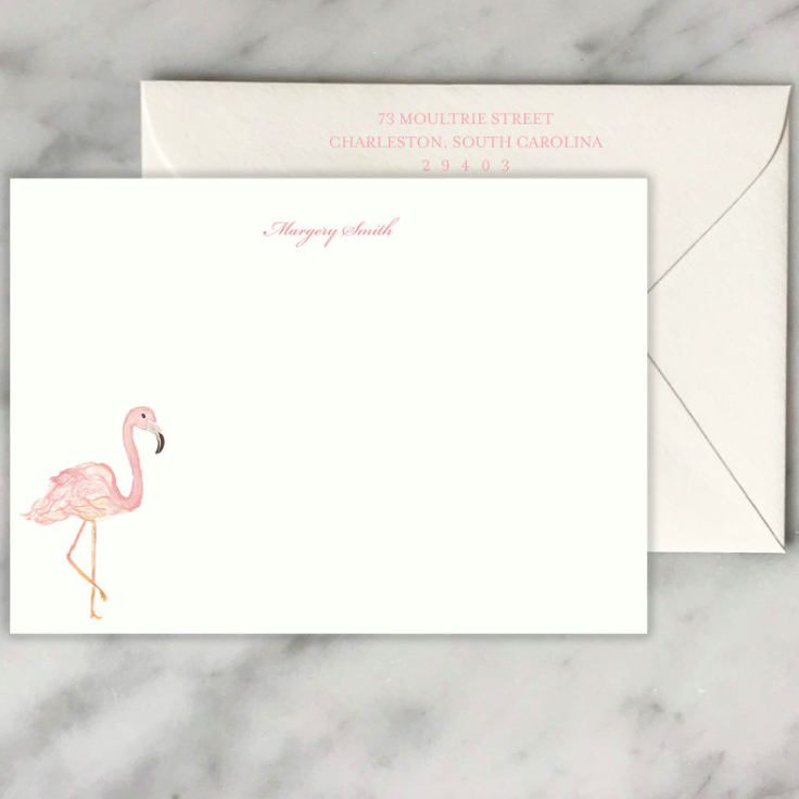 Flamingo Note Cards