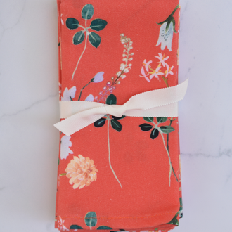 Terra Cotta Floral Napkin - Set of 4