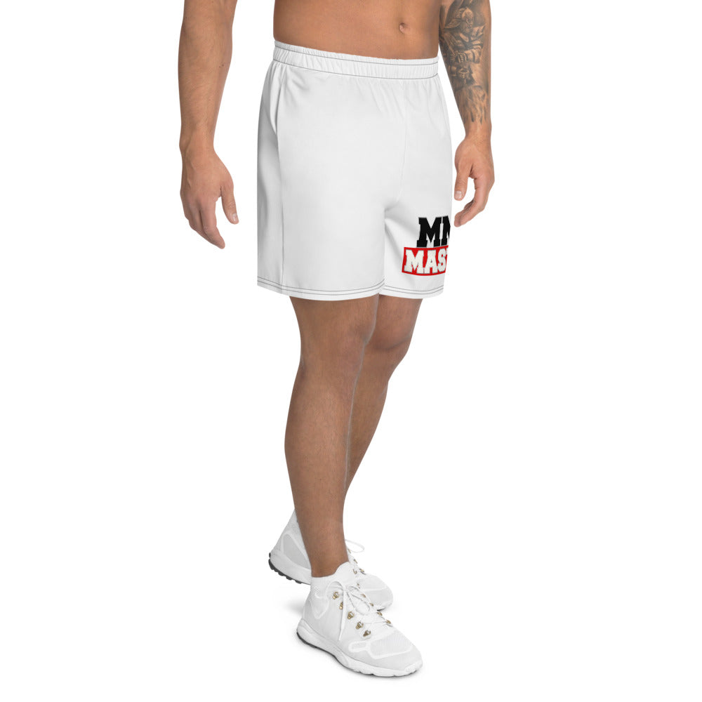 MMA MASTERS White Men's Athletic Long Shorts