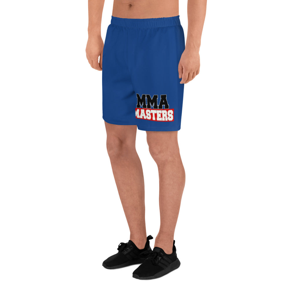 MMA MASTERS Blue Men's Athletic Long Shorts