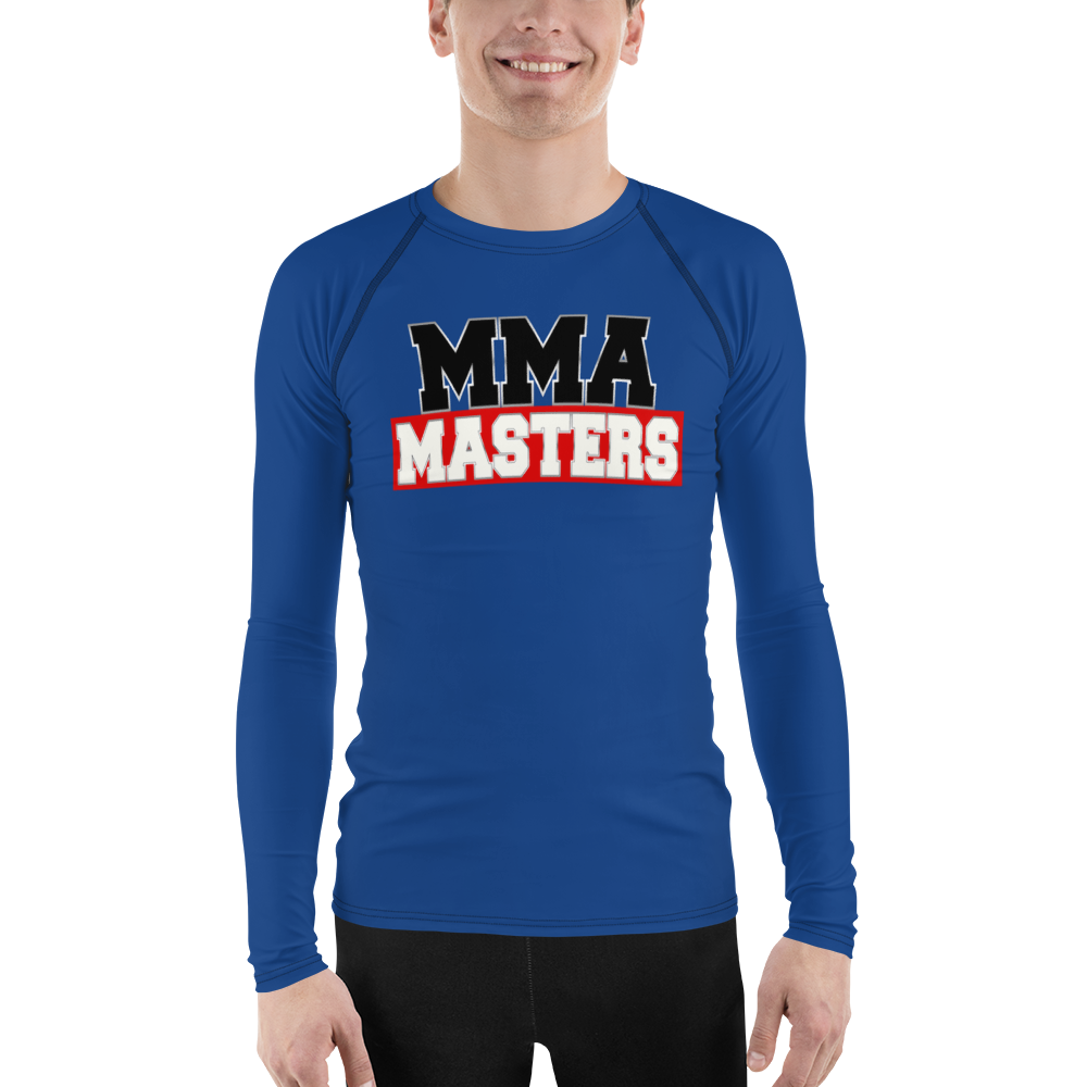 MMA MASTERS Blue Belt Men's Rash Guard