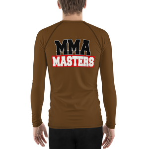 MMA MASTERS Brown Belt Men's Rash Guard