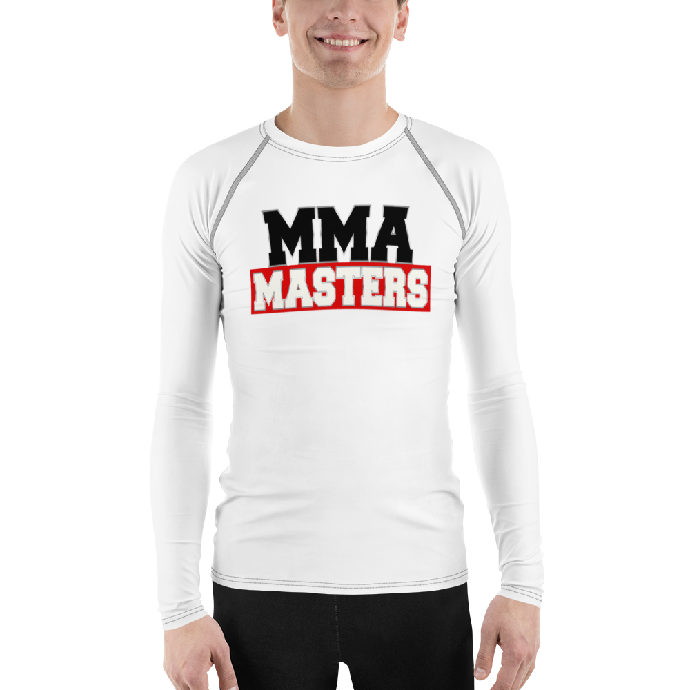 MMA MASTERS White Belt Men's Rash Guard