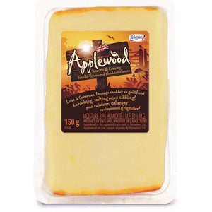 150g prepackage of Applewood Smoked Cheddar from Ilchester.