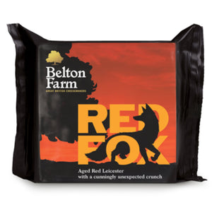 A 200g prepackage of Red Fox cheese from Belton Farm.