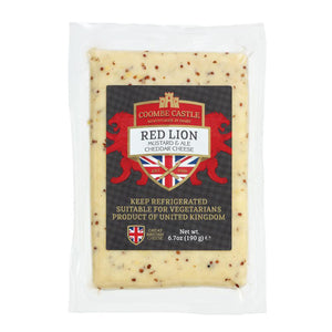 A 190g prepackage of Red Lion from Coombe Castle.