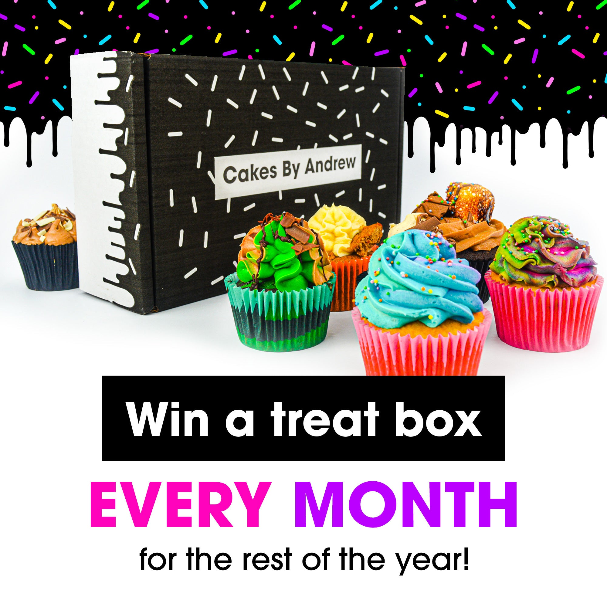 cake competition - win a treat box every month for the rest of the year