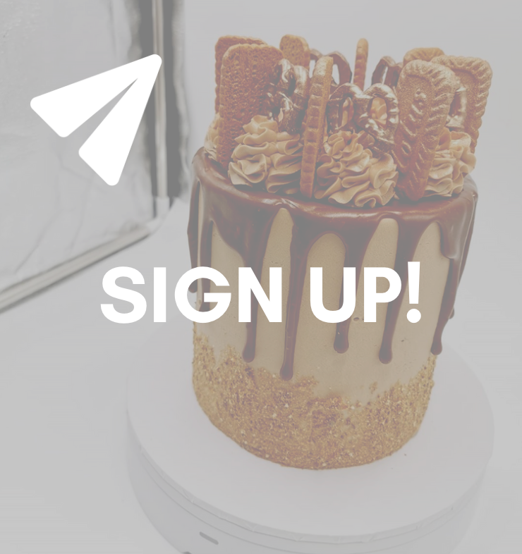 Sign up to the Cakes By Andrew newsletter