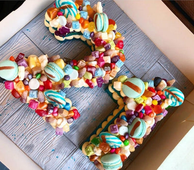 Double digit number/letter cake serves approx 20-25
