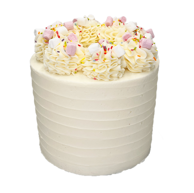 "This is a 6"", Regular height cake, All cakes may have slight variations in colour or style due to being handmade to order"