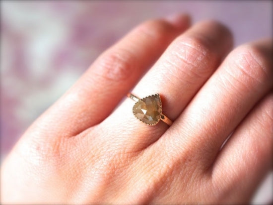 Walnut Diamond Ring