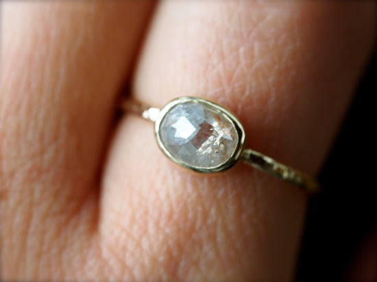Silky White Diamond Ring