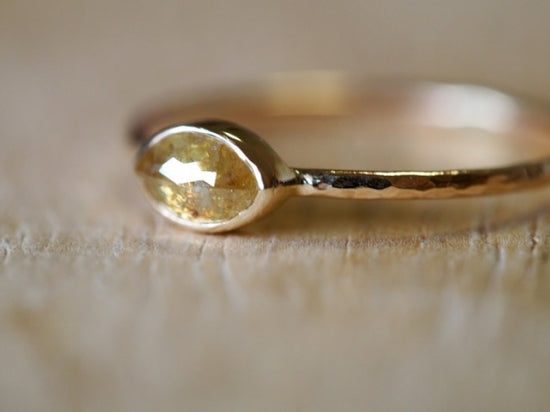 Petal Of Sun Diamond Ring