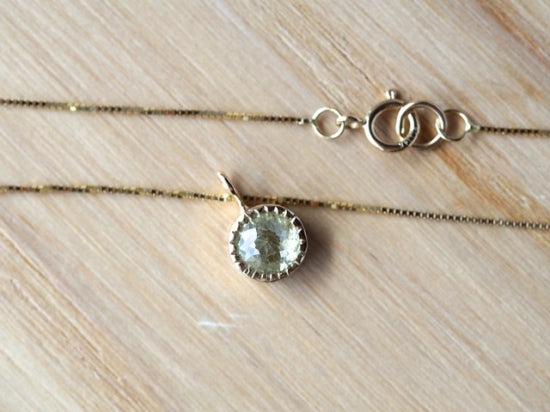 Baby Sunlight Diamond Necklace