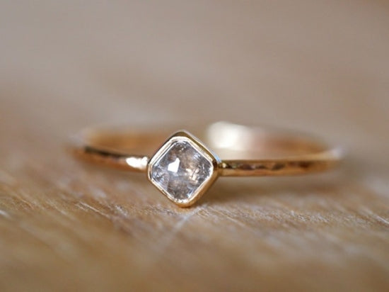 Diagonal Square Diamond Ring Frost