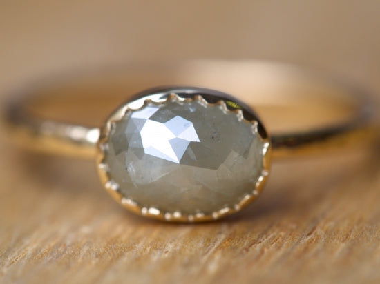 Sage Gray Diamond Ring