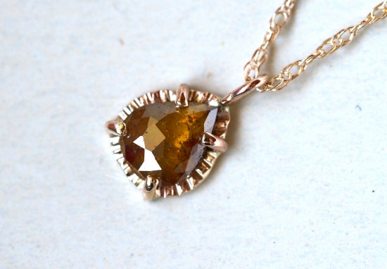 Brown Olive Diamond Necklace