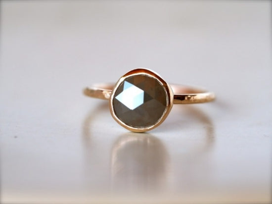 Free Form Ash Grey Diamond Ring