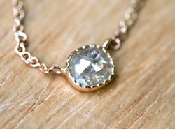 Spring Puddle Diamond Necklace